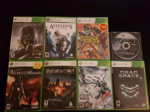 8 xbox 360 games for $30