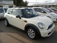 2011 Mini 1.6 One only 74K FSH White Bluetooth Aircon Low Insurance Excell Cond