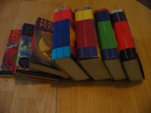 Lot of 7 HARRY POTTER Books: Complete with 5 Hard Covers