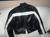 LEATHER BOMBER JACKET  ** Excellent condition **