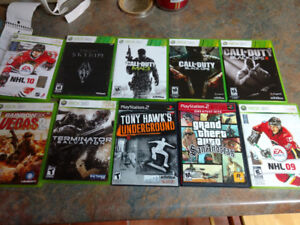 Xbox 360 and PS2 games for sale