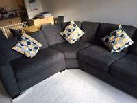 Eleanor corner sofa suite - like new. 3 years warranty remaining!