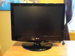 Téléviseur/écran d'ordinateur 19´´ LG à vendre.