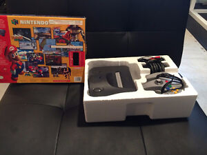 N64 Console Complete in Box with All Hook Ups and N64 Controller
