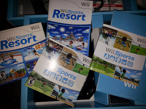 Wii console with Sport & Sports Resorts