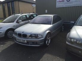 Bmw 318ci coupe breaking full car lights mirror wheels seats interior grills e46