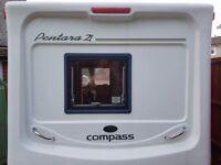 For sale £4,800 Compass pen Tara (2005) 2 berth touring caravan York