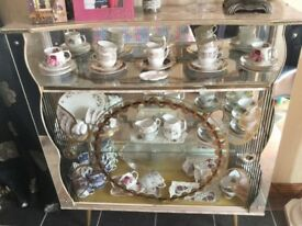 Vintage mirrored china cabinet