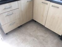 Kitchens units & sink for sale