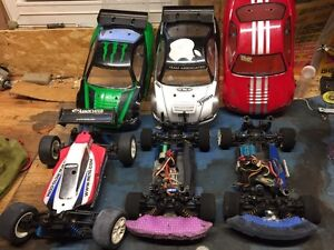RC-- 1/18 racers and buggy