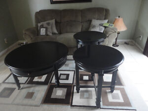 3 pcs round coffee tables