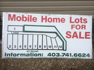 Mobile home lots Stettler only 2 left