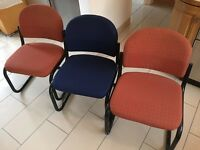 Office customer reception chairs x three