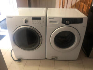 Samsung front load washer and STEAM dryer with STACKING  KIT