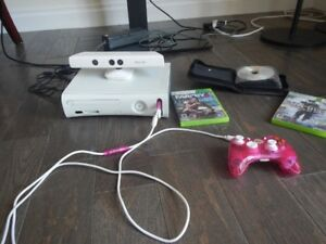 modded XBOX 360 with kinekt and games