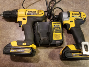Dewalt 20 Volt drill driver with brand new impact combo