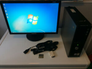Dell PC tower and monitor