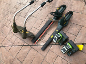 Yardworks Trimmers, Blower, Hedge Trimmer, Batteries & Chargers