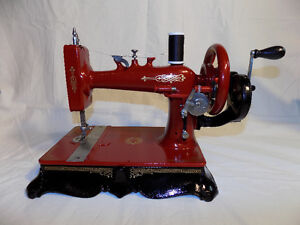 """CUSTOM PAINTED ANTIQUE HAND CRANK """"IDEAL"""" SEWING MACHINE"""