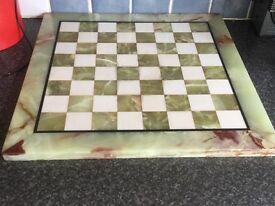 Onyx chess board