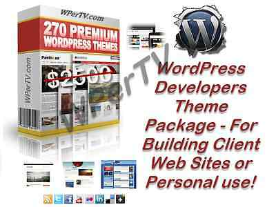 270 Wordpress Themes Templates Package for Website Developers or Resale - CD