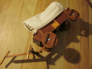 CHUCK WAGON Old West Western Wood Wooden Toy Model Vintage Art