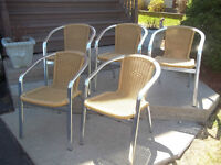 Five (5) Outdoor Cafe Chairs