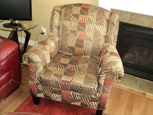 GORGEOUS MULTI COLORED LIKE NEW OCCASIONAL CHAIR Strathcona County Edmonton Area image 1