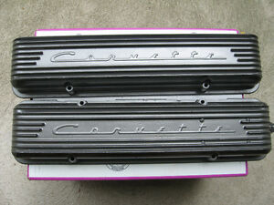 Extremely rare Corvette 9 fin valve covers, late 1956 and 1957