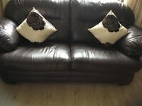 Beautiful leather sofa and 2 arm chairs