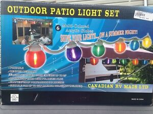 outdoor patio lights set for RV