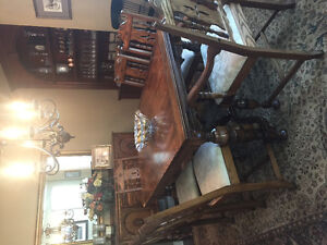 Antique Solid Oak Dining tables, chairs, buffet