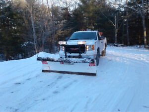 GMC 2500, with plow and spreader