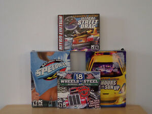 Set of 4 PC Driving Video Games