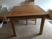 Gillies solid oak expanded table
