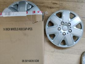 "14"" wheel trims. Unused"