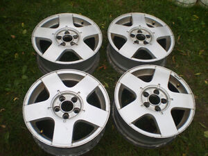 """15""""  W V  alloy rims for sale (5 x100)"""