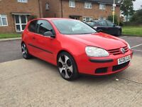 2006 VW VOLKSWAGEN GOLF 1.4 S (75) RED 3DR CHEAP INSURANCE LOW MILEAGE 76,000