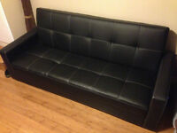 Klik Klak Futon/Couch with Storage - In New Condition