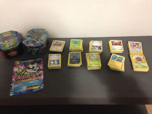 Pokemon cards and tins