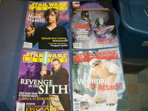 STAR WARS INSIDER-LOT OF 4 ISSUES-1990'S-WAMPA-SITH-MARK HAMILL+