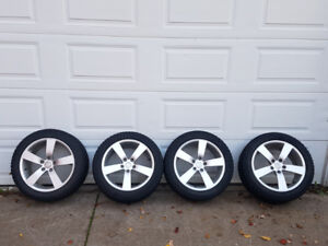 5 x 112  Audi  VW  Mercedes wheels with winter tires