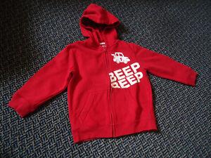 Boys Size 4 Full Zip Red Hoodie
