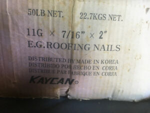 Roofing nails. Pending pickup