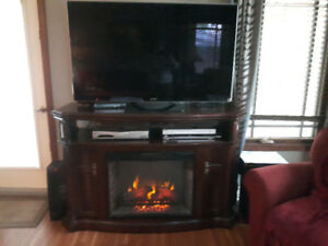 Electric fireplace entertainment system