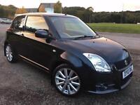 2010 10 Suzuki Swift Sport 1.6 VVT in Black metallic, Genuine 74k miles