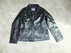 FOR SALE New Leather Jacket – G A Milano 1 Black Ladies Small si