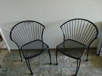 Pair of Mid-Century Modern Bistro Chairs  (NEW) - $120 OBO
