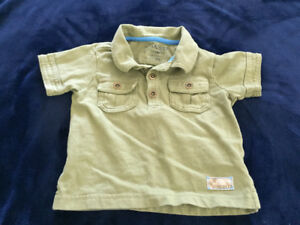 12 month handsome army green Sprockets shirt