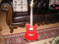 Fender red Telecoustic with Tour Grade Case